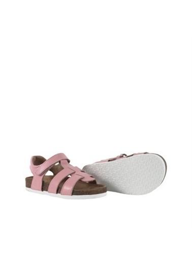 Kids A More Holley Tek Cırtlı Deri Kız Çocuk Sandalet  Pembe
